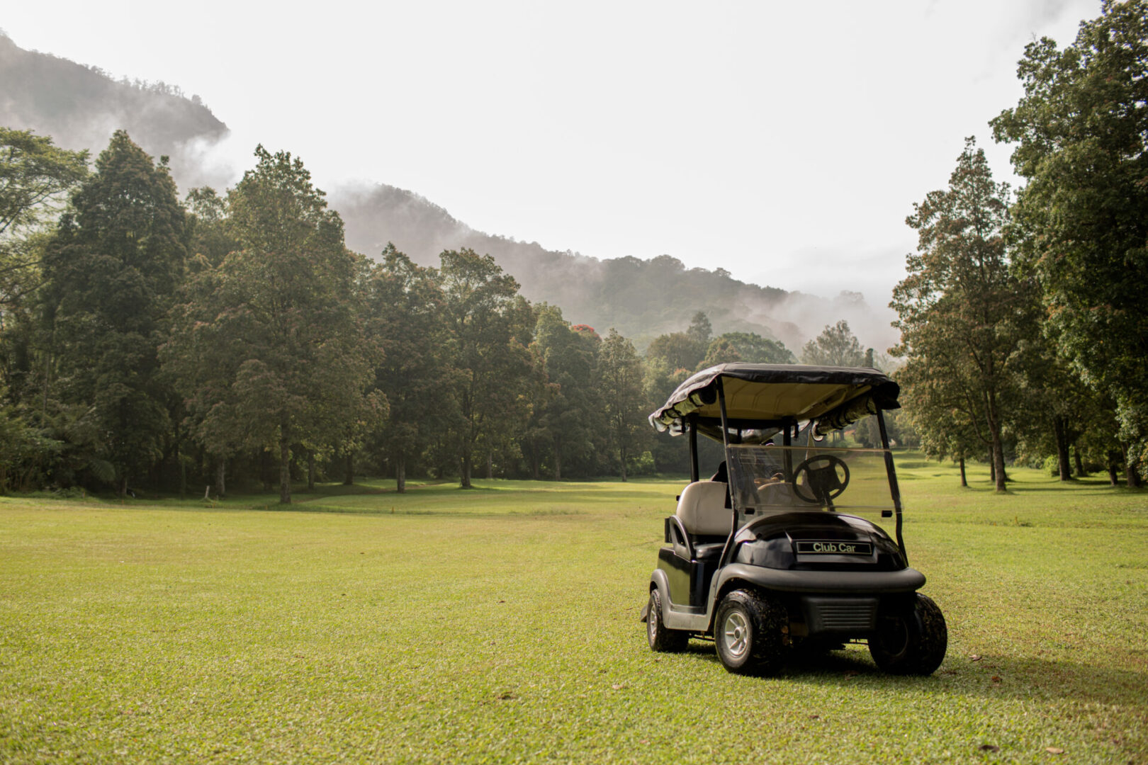 Golf cart parked. Bali. Indonesia